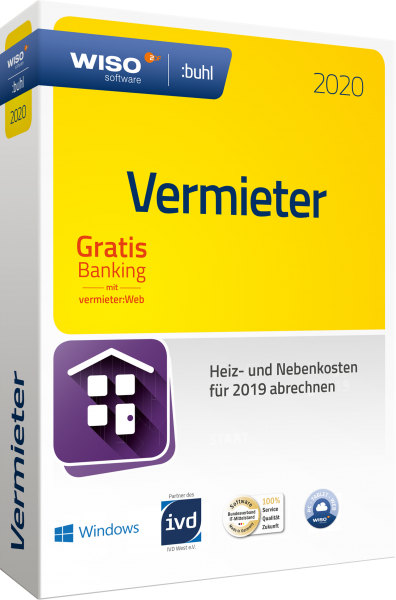 WISO Vermieter 2020 | Abrechnungsjahr 2019 | Download | Windows