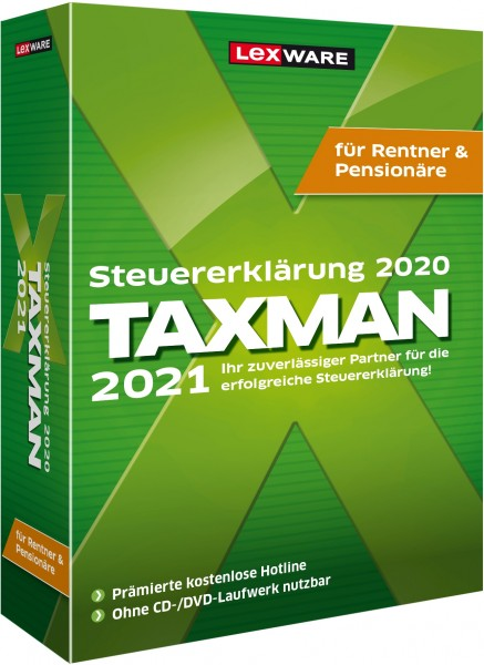 Lexware TAXMAN 2021 für Rentner und Pensionäre - Windows