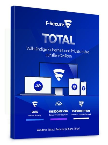 F-Secure Total Security & VPN 2021 - Multi Device - Download