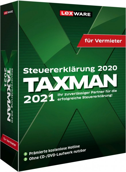 Lexware TAXMAN 2021 für Vermieter | Windows