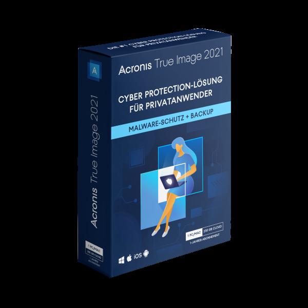 Acronis True Image 2021 Advanced - 250 GB Cloudspeicher - 1 Gerät - 1 Jahr