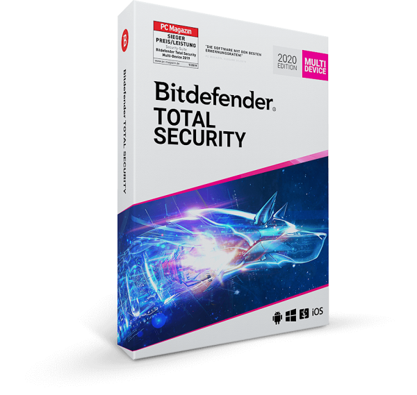 Bitdefender Total Security 2021 (2020) PC/Mac/Mobilegeräte