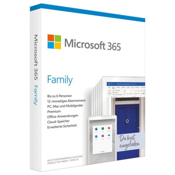 Microsoft Office 365 Family - 6 Nutzer - Windows/ Mac/ Mobilgeräte