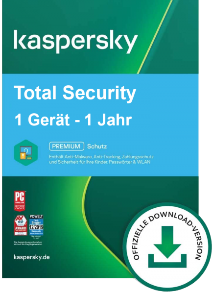 Kaspersky Total Security 2020 - PC/Mac/Mobilgeräte